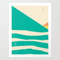 Secret Surf Map 002 — … Art Print