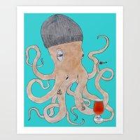 Octoland Art Print