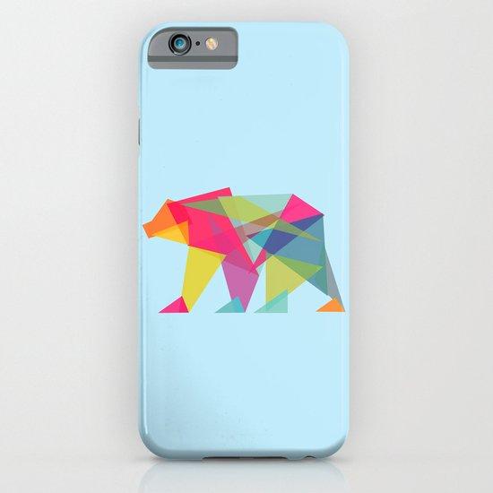Fractal Bear - neon colorways iPhone & iPod Case