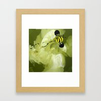 Buzzy Bee Framed Art Print