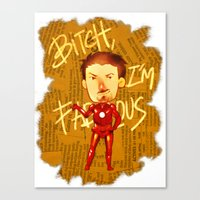 Stark is Fabulous Canvas Print