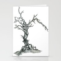 Gnarled Tree Pencil Draw… Stationery Cards