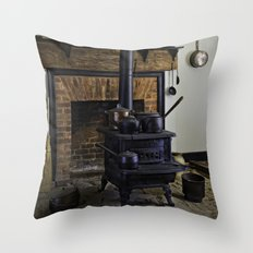 Wood Stove (Painted) Throw Pillow