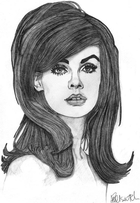 Jean Shrimpton Canvas Print