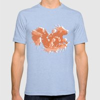 Orange Squirrel Mens Fitted Tee Tri-Blue SMALL