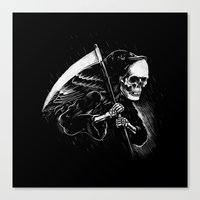DEATH WILL HAVE HIS DAY Canvas Print