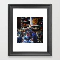 THE CAROUSEL Framed Art Print