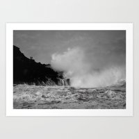 Wave watching Art Print