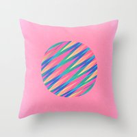 Circle Of Lines Throw Pillow