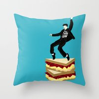 Homage To Elvis Throw Pillow