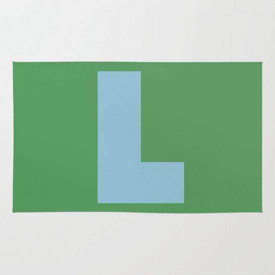 Light Blue L Area & Throw Rug