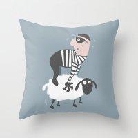on the LAMb Throw Pillow