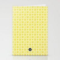 U15: atomic yellow B Stationery Cards
