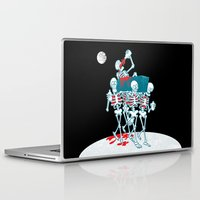 day of the dead Laptop & iPad Skins featuring Day of the Dead by drawgood
