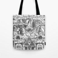 Legend of Zelda - The Three Goddesses of Hyrule Geek Line Artly Tote Bag