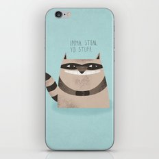 Sneaky Raccoon iPhone & iPod Skin
