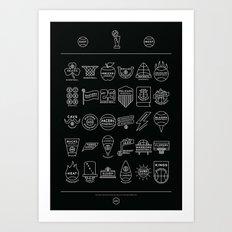 NBA Logos Simplified Art Print