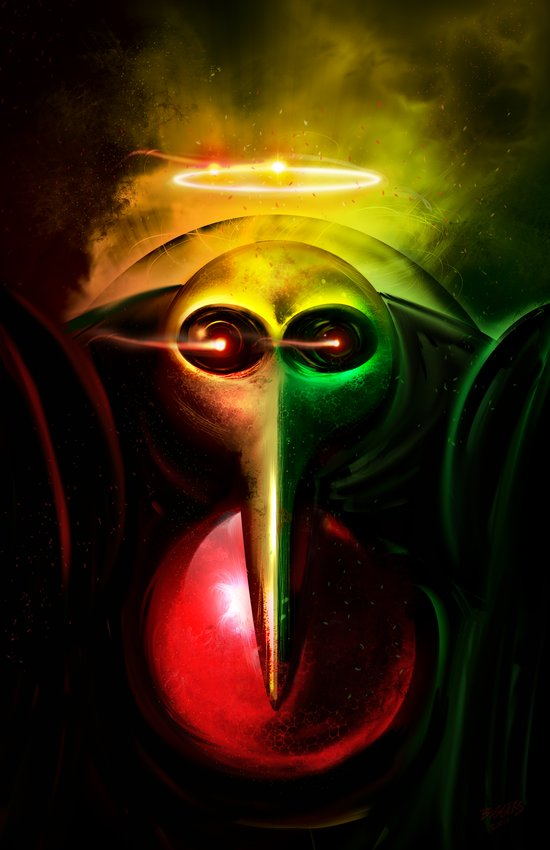Sachiel the Risen. 3rd Angel of Evangelion Digital Painting Art Print