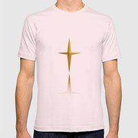 THE STAR OF GOLD Mens Fitted Tee Light Pink SMALL