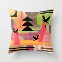3 Flew Over. Throw Pillow