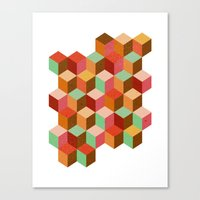 cubes, cubes and more cubes Canvas Print
