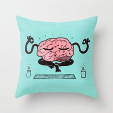 Train Your Brain Throw Pillow