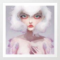 Le Coeur Des Crocus... Art Print