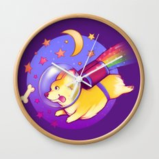 See You Space Corgi Wall Clock