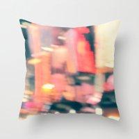 NY Lights Throw Pillow