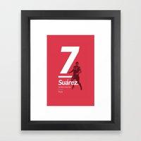 Suarez Liverpool 7 Framed Art Print