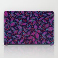 RED BERRIES PINK LEAVES iPad Case