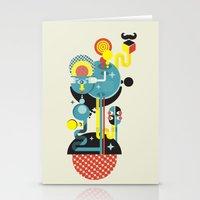 Blue Monster. Stationery Cards
