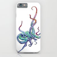 iPhone & iPod Case featuring Rainbow Octopus by Sam Nagel