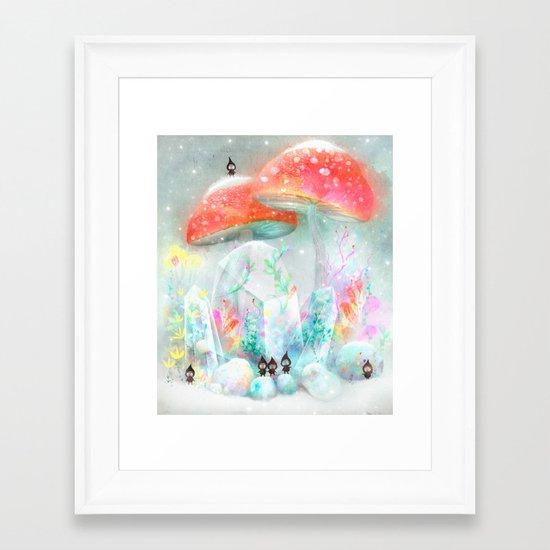 Winter Garden Framed Art Print