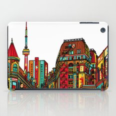 Sound of the city - White background cityscape iPad Case