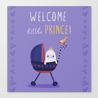 Welcome little prince! Canvas Print