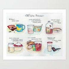Cheap-Ass Wine Pairings Art Print