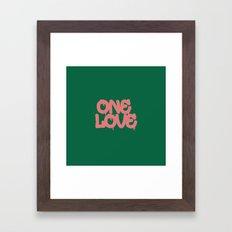 ONELOVE Framed Art Print
