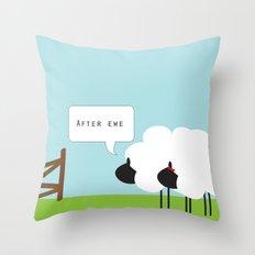 After Ewe Throw Pillow