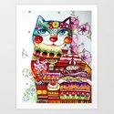 Sweet  Tooth Cat  Art Print