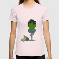 My angry hero! Womens Fitted Tee Light Pink SMALL