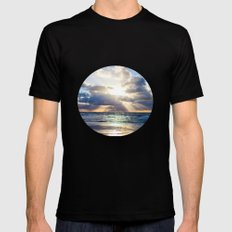 Next To Heaven  Black SMALL Mens Fitted Tee