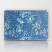 icy snowflakes on blue Laptop & iPad Skin