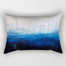 All good things are wild and free - Ocean Ombre Painting Rectangular Pillow