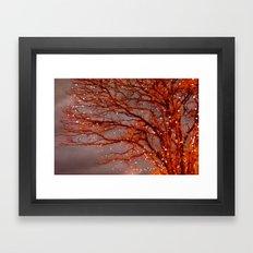 Magical In Red Framed Art Print