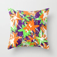 Very Bright flowers  Throw Pillow