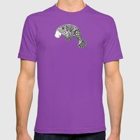 Blue Manatee Mens Fitted Tee Ultraviolet SMALL