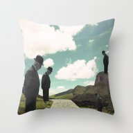Watching The Boats Come … Throw Pillow