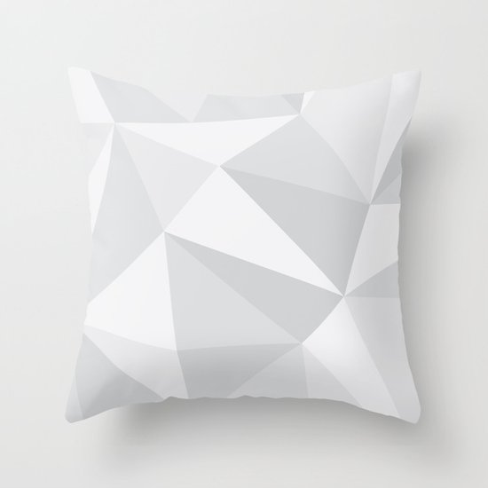 White Deconstruction Throw Pillow