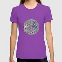 The Flower of Life in the Sky Womens Fitted Tee Ultraviolet SMALL